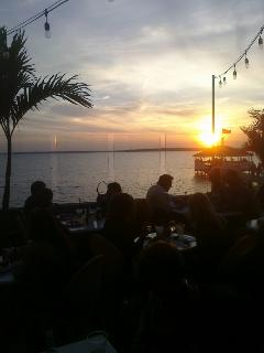 Sunset at nearby Fager\\\'s Island in OC