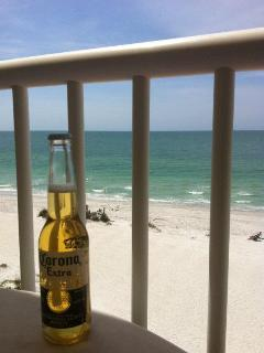 Enjoy a cold one on the large balcony