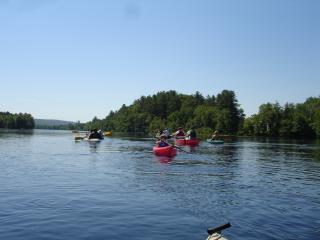 Kayaking the Kennebec river
