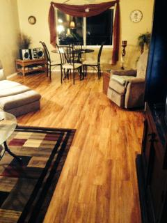 new wood laminate flooring - clean, fresh and care free!