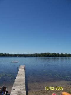 Lake with dock and float