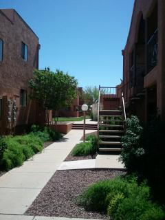 walkway to complex rec center