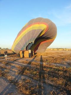 balloon ride with sunrise in Arizona : a magic moment !
