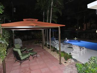 Enjoy a nighttime swim in our lighted pool!