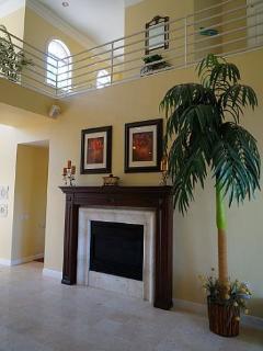 Main living area, gas fireplace