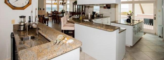 Kitchen and Wet Bar with Sink and Under-counter Beverage Refrigerator