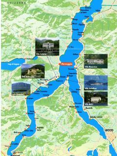 Map centra  Lake Como and Griante location