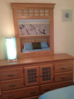 Master Suite 2:  Queen bed, walk-in closet, tv, bathroom with shower