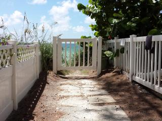 Our private walkway to the soft sand beach