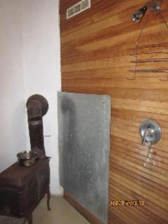 Wood Heat Sauna - with shower (tough to take pix in small room)