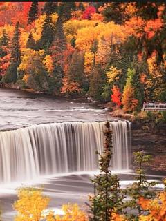 Tahquamenon Falls, about 2 hours from the Beach House.  Many trails to enjoy.