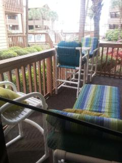 Deck accessible from living room and master bedroom