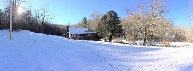 Mild winter day or chilly snowy day - The Old Campbell Farm's always comfy, cozy