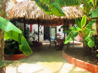 tropical garden home in typical barrio, Cartagena