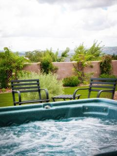 Step into your private Spa and relax and gaze at the stars, no light pollution.