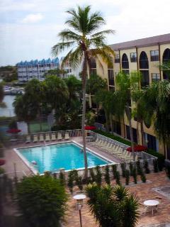 Lanai view of swimming pool