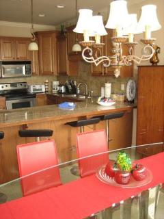 Great granite kitchen with stainless appliances.