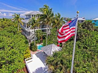 PRIVATE GULF BEACH, SLEEPS 12; 5 BD, 5 1/2 BATHS, HEATED POOL; SEE DRONE VIDEO