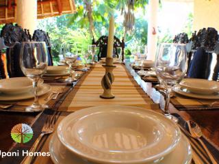 Dining in luxury