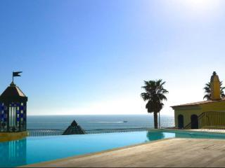 Swimming pool with sea view.
