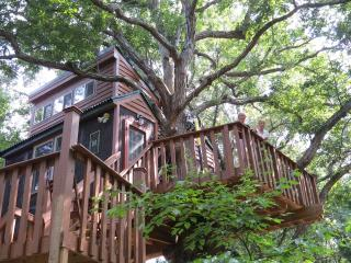 White Oak Tree House in the Illinois Ozarks, Karbers Ridge
