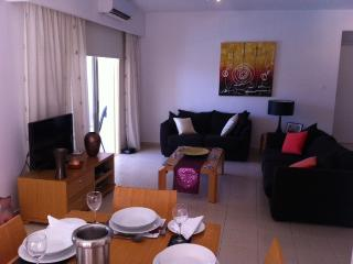 Lounge has TV and DVD player and there is internet available throughout the apartment