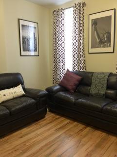 100%leather sofa and love seat .
