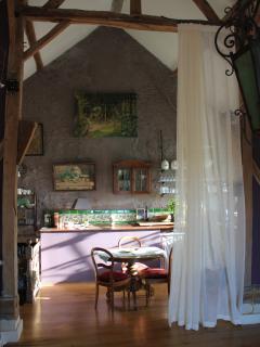 la chambre est située dans une grange du 18 ième siècle