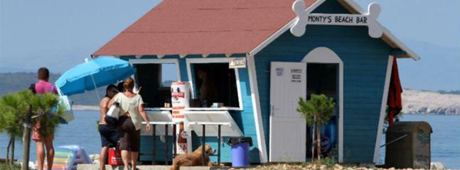 Dog bar on the beach for dogs.
