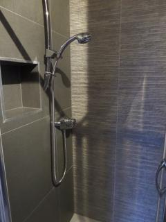 newly upgraded shower room