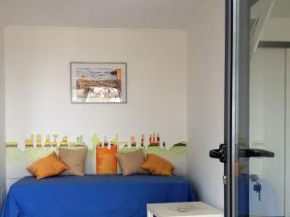 Sofa bed , where you can relax and enjoy the panoramic sea view of Sorrento coast line Naples bay