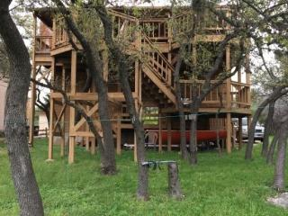 Lake Travis waterfront with dock, Spicewood