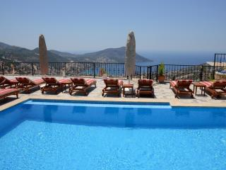 6 beds family villa rental in Kalkan with seaview