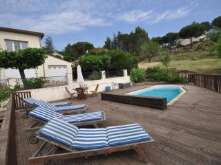 House with pool and views of Rennes le Chateau