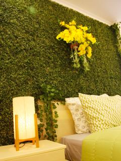 The greenwall will make you more relaxed in your trip