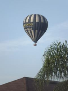 Early morning balloon over the community