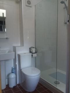 Large Shower, Shampoo, Conditioner and body wash provided for use during your stay.