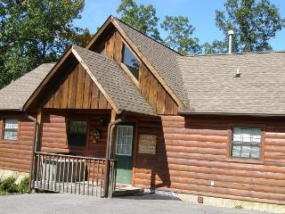 Exterior of cabin. Cabin is located one mile to Dollywood and close to the parkway