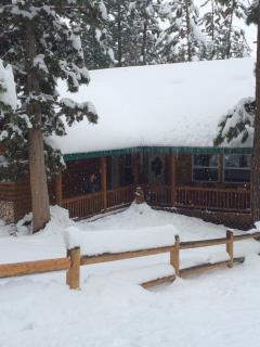 new snow on house