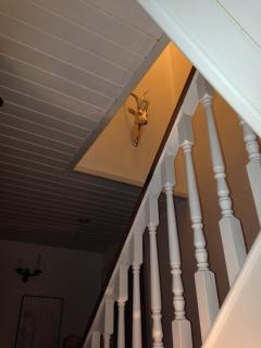 Stairway with ornamental stag