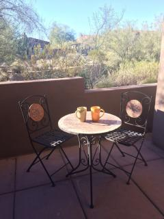 Enjoy morning coffee and evening cocktails from your PRIVATE patio