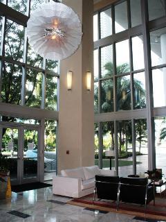 Modern High 36' Ceiling -Back Lobby