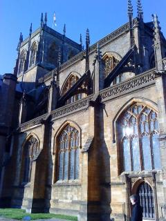 Beautiful Sherborne Abbey, 5 minutes walk from Garden Cottage.