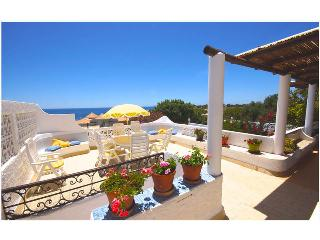Beautiful large terraces face south, with barbeque & incredible views of the sea sparkling below