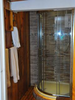 Top class swiss shower room with modern fittings