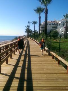 Boardwalk - note little bench all along the way to take a rest & enjoy the view!