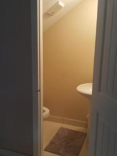1/2 bath on 1st floor