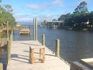 CANAL FRONT WITH DOCK AND LAUNCH, CLOSE TO BEACH, St. George Island