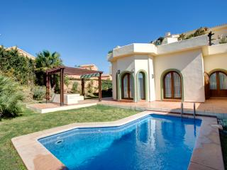 Contemporary garden golf course view with pool, Los Belones