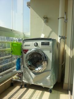 LG Washing machine on the balcony